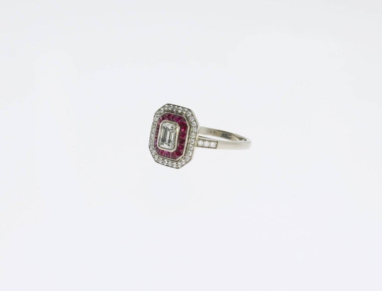 A Fine Ruby Diamond Cluster Ring 3