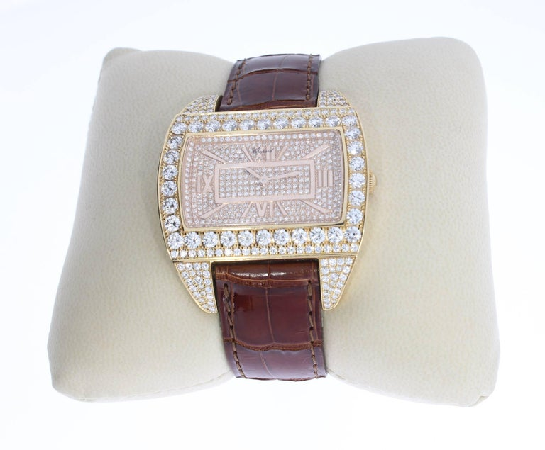 Rose Gold Ladies Wristwatch by Chopard In Excellent Condition For Sale In Berlin, DE