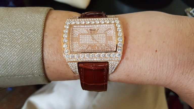 Rose Gold Ladies Wristwatch by Chopard For Sale 2