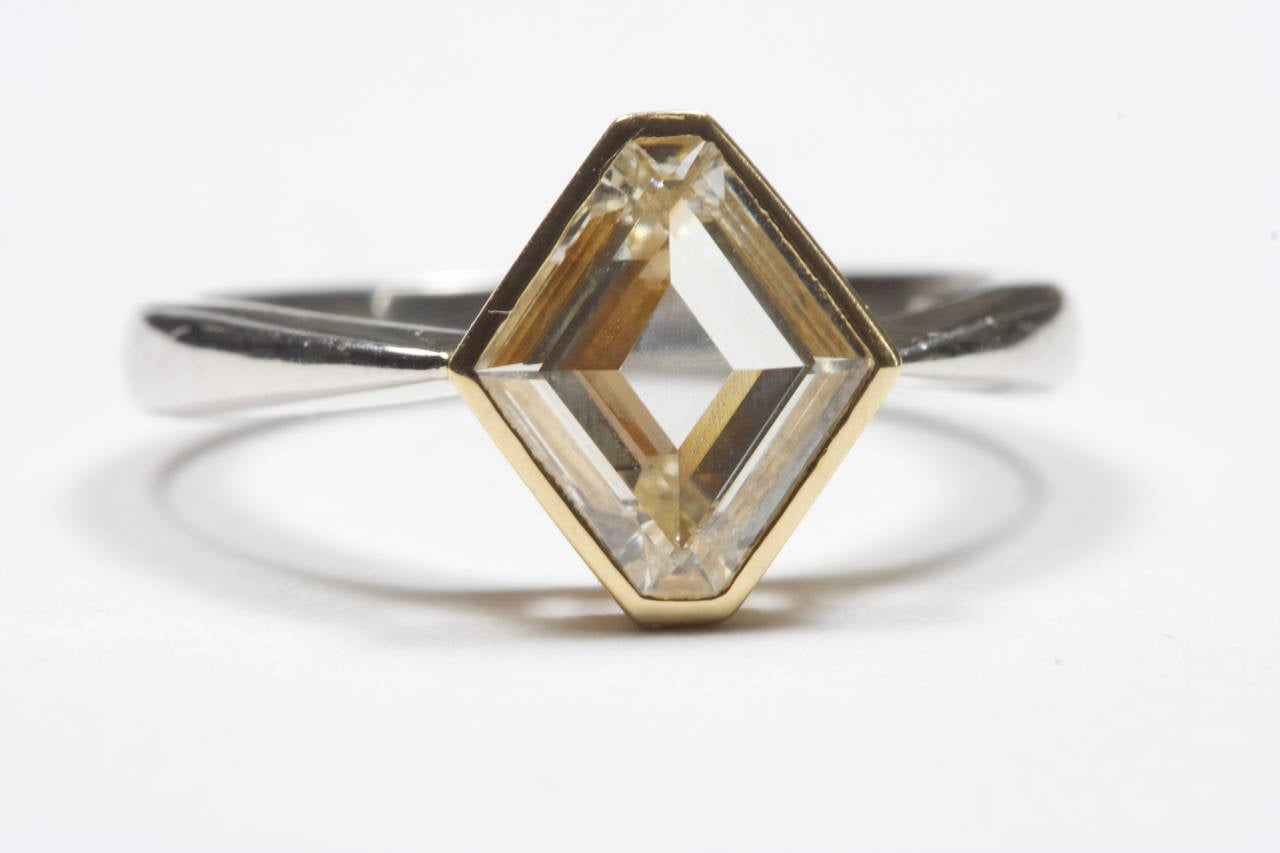 gold platinum engagement ring at 1stdibs