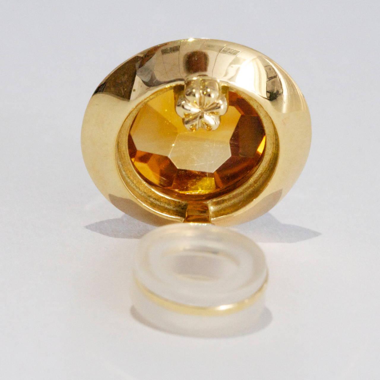 Women's Pomellato Citrine Gold Earrings For Sale