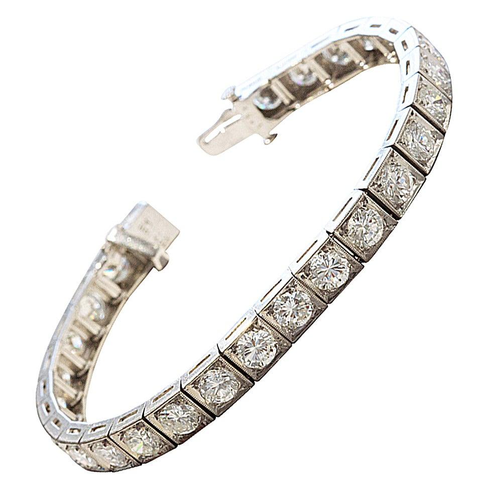 superb diamond platinum bracelet at 1stdibs