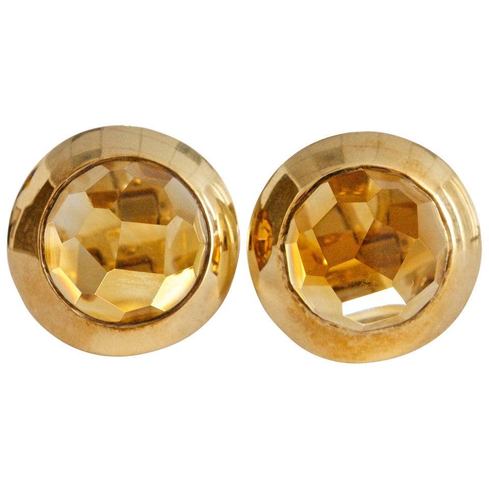 Pomellato Citrine Gold Earrings For Sale