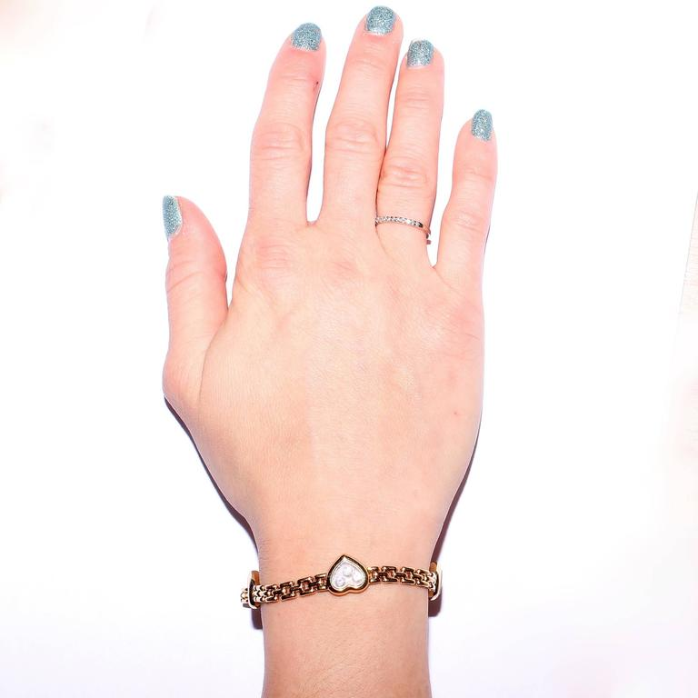 Chopard Happy Diamond Gold Heart Bracelet at 1stdibs