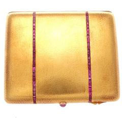 French Retro Ruby Gold Box