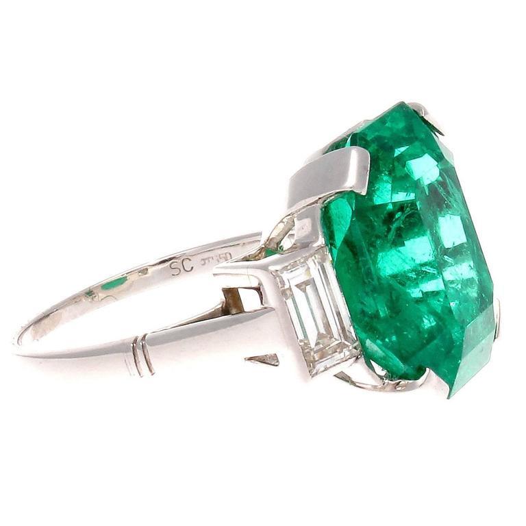 important 10 03 carat emerald platinum