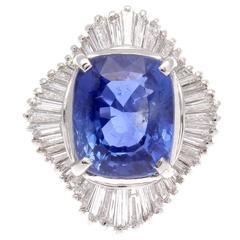 7 Carat Sapphire Diamond Platinum Ring