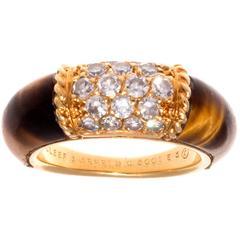 Van Cleef & Arpels Tiger's Eye Diamond Gold Philippine Ring