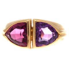 Bulgari Amethyst Tourmaline Gold Ring