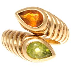 Bulgari Two Stone Gold Ring