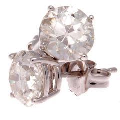 Sapphire Diamond Platinum Earrings For Sale At 1stdibs