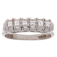 Asscher Cut Diamond Platinum Ring