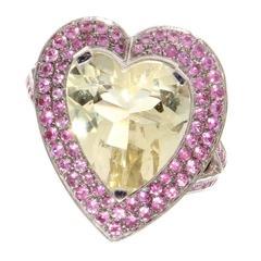 Mauboussin Heart-Shaped Sapphire gemstones Ring