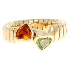 Bulgari Double Heart Gold Ring