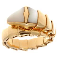 Bulgari Serpenti Mother-of-Pearl Gold Ring