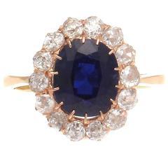 Victorian Sapphire Diamond Gold Ring