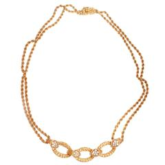 Boucheron Serpent Boheme Diamond Gold Necklace