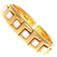 Italian Mother-of-Pearl Gold Bracelet