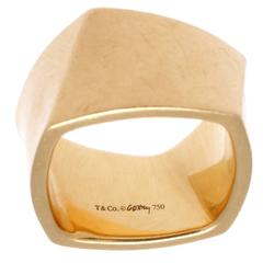 Tiffany & Co. Gehry Wide Gold Torque Ring