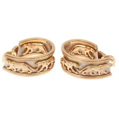 Cartier Panthere Gold Earrings