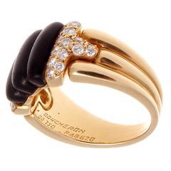 Boucheron Special Wood Diamond Gold Ring