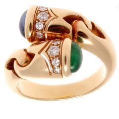 Bulgari Gemstone Bypass Ring