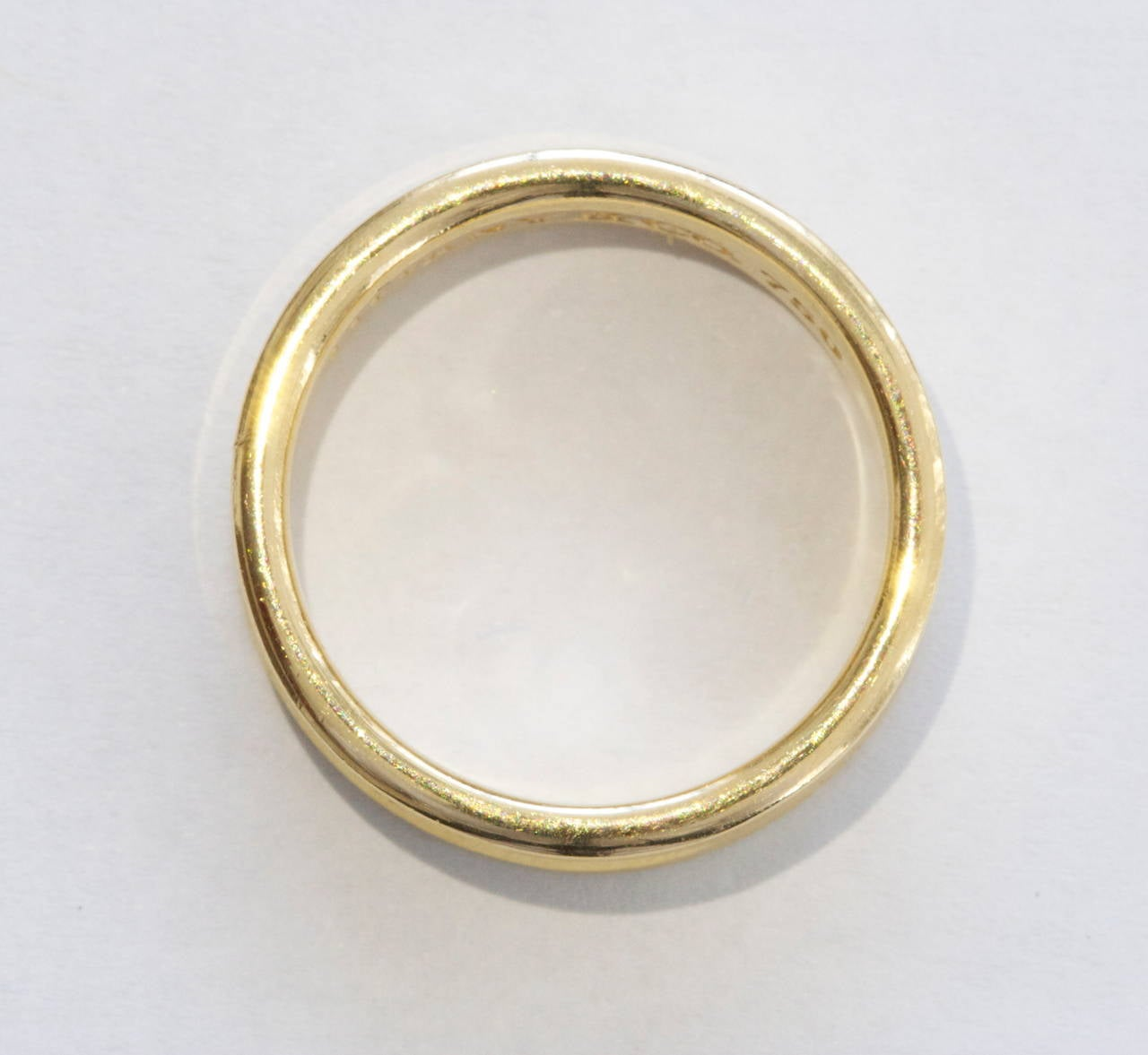 Women's Tiffany & Co. 1837 Gold Wide Band Ring For Sale