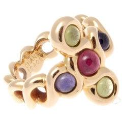Chanel Tourmaline Amethyst Gold Ring