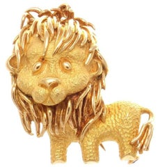 Bulgari Lion Gold Brooch