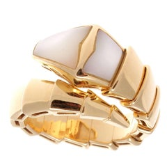Bulgari Mother-of-Pearl Gold Serpenti Ring
