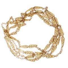 Long 19th Century French Gold Necklace