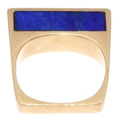 1960s Lapis Gold Ring