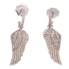 House Of Garrard Diamond Gold Angel Wing Earrings