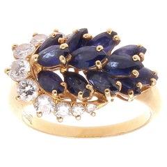 Piaget Sapphire Diamond Gold Ring
