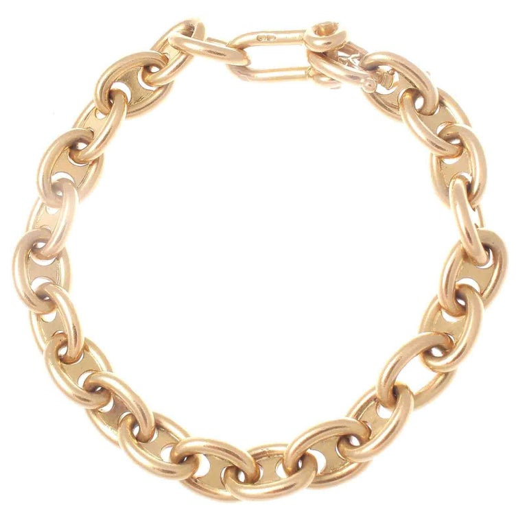 Vintage French Gold Link Bracelet