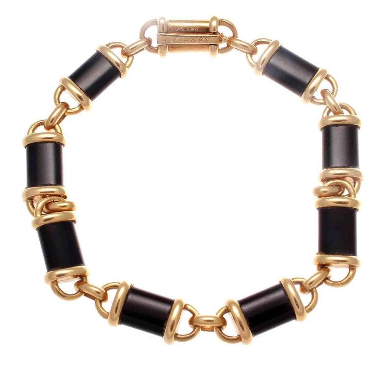 Van Cleef & Arpels Onyx Gold Bracelet
