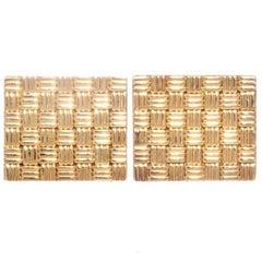 Retro Ruser Gold Cufflinks
