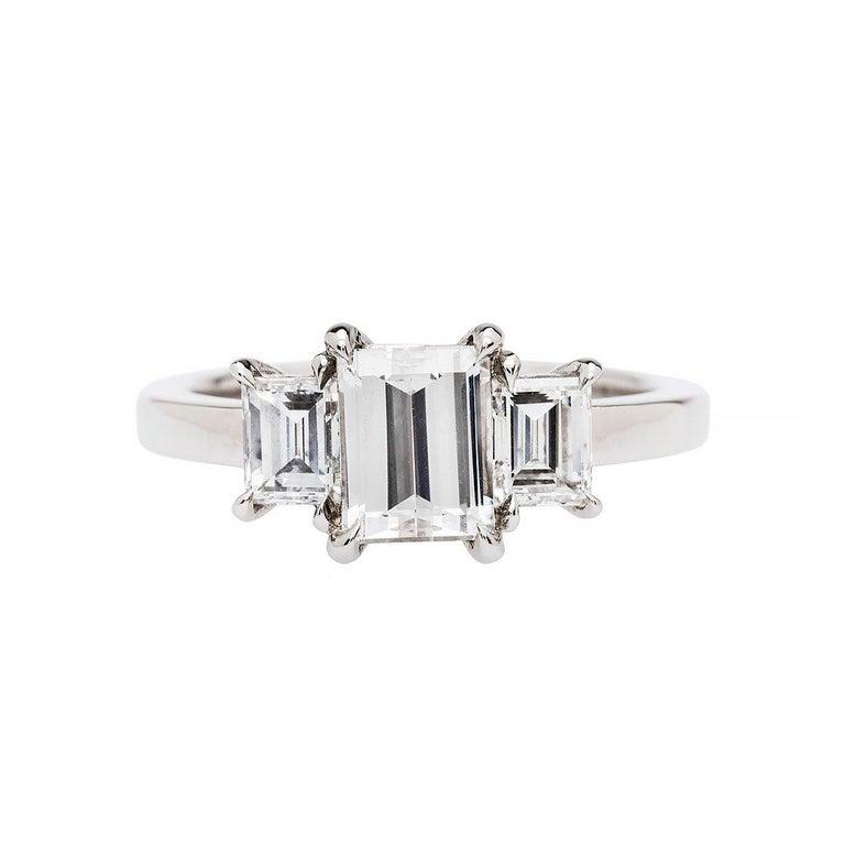 1.06 F VVS2 Diamond Platinum Engagement Ring