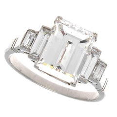 3.09 Carat GIA Diamond Platinum Engagement Ring