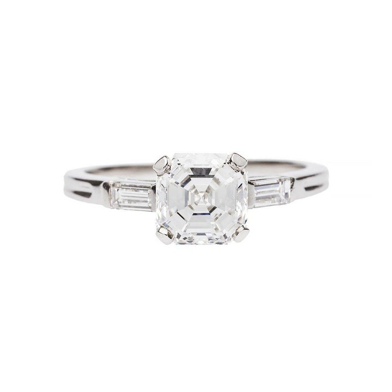 1.52 Carat GIA Diamond Platinum Engagement Ring