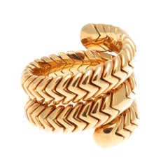 Bulgari Spiga Gold Ring