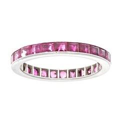 Ruby Diamond Platinum Eternity Ring
