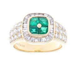 Boucheron Emerald Diamond Gold Ring