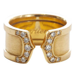 Large Cartier Double C Diamond Ring