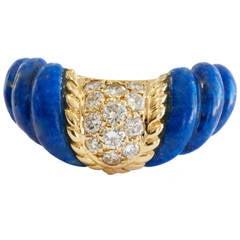 Boucheron Paris Lapis Lazuli Diamond Gold Ring