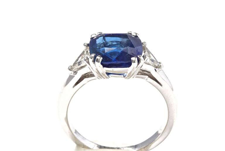 burma no heat sapphire platinum engagement ring at
