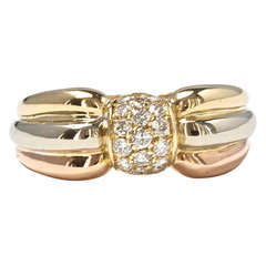 Cartier Tricolor Gold and Diamond Ring