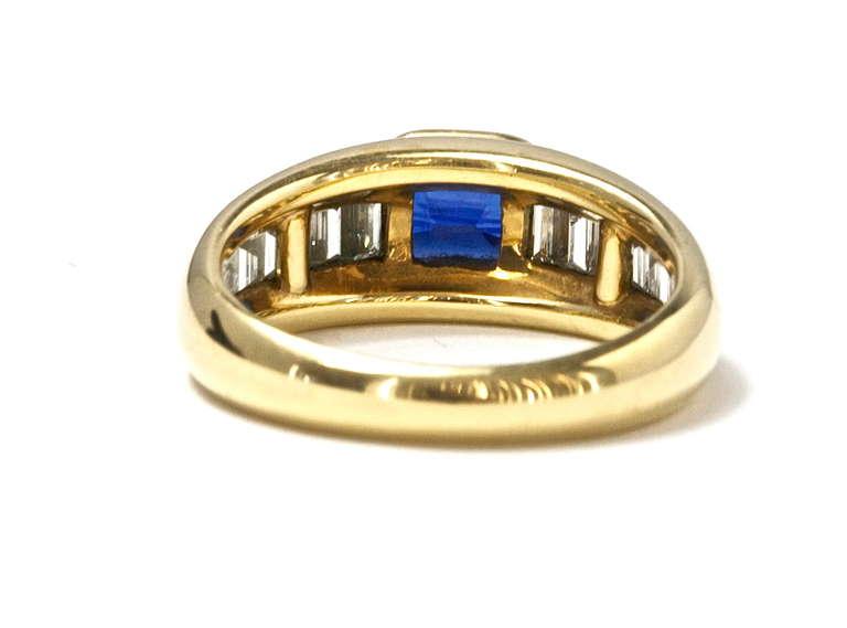 Tiffany Sapphire Diamond Engagement Ring at 1stdibs