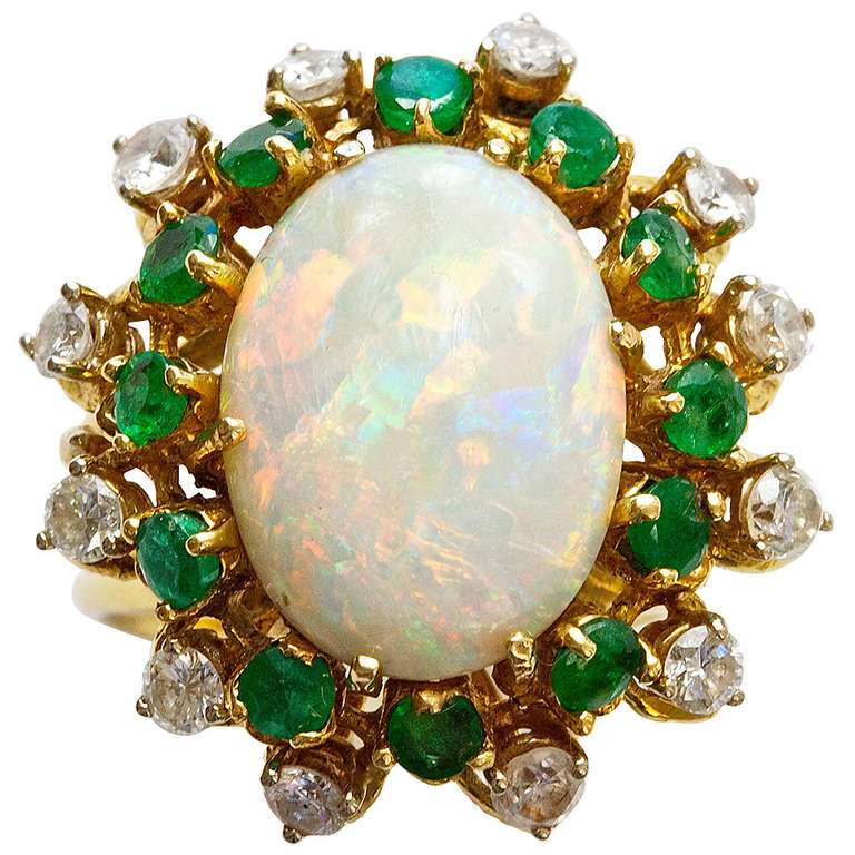 opal emerald and ring at 1stdibs