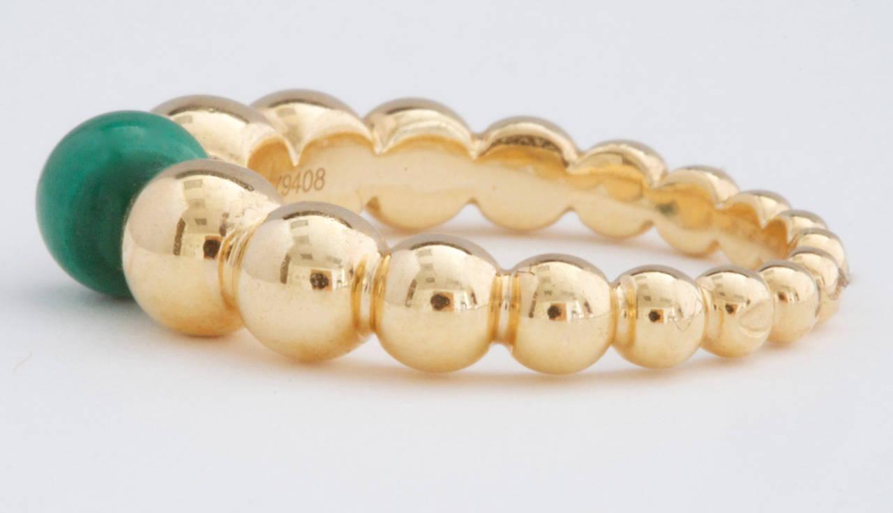 Van Cleef & Arpels Perlee Malachite Gold Ring 2